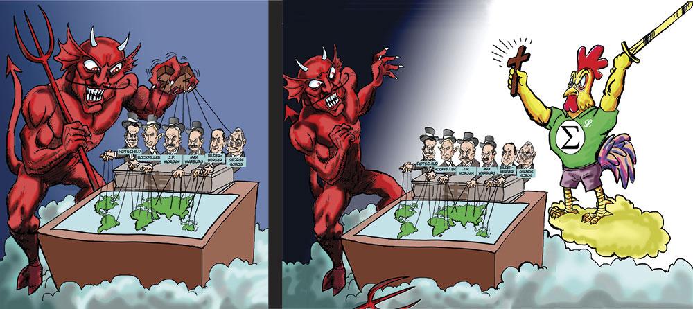 Demônio contra o Galo Tupã
