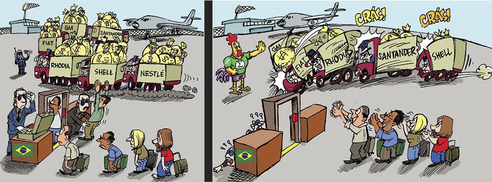 Galo Tupã no Aeroporto